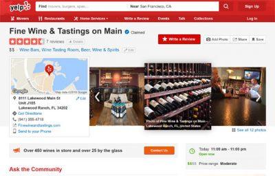 Wine Bar & Wine Store Fine Wine and Tastings Yelp Reviews