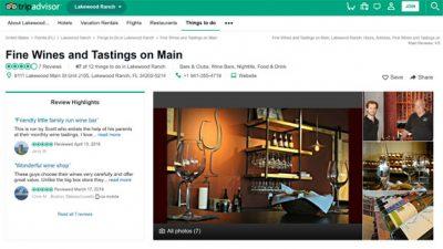 Tripadvisor reviews Fine Wine and Tastings on Main Lakewood Ranch Wine Bar and Wine Store